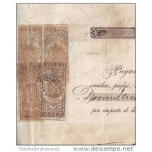 E4468 CUBA ESPAÑA SPAIN GIROS REVENUE USE SURCH SEALLED PAPER