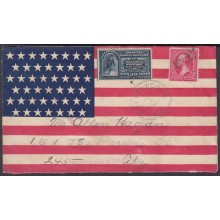 1898-H-69 US OCCUPATION ANTILLES. 1898. SPECIAL DELIVERY POSTAGE DUE. PATRIOTIC COVER.