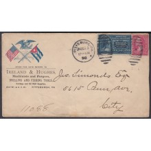 1898-H-68 US OCCUPATION ANTILLES. 1898. SPECIAL DELIVERY. PATRIOTIC COVER PITTSBURG.