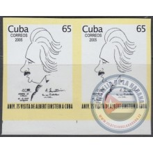 2005.350 CUBA 2005 IMPERFORATED PROOF MNH. ALBERT EINSTEIN, ATOMIC SCIENCE.