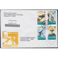 2010-FDC-88 CUBA FDC 2010. REGISTERED COVER TO SPAIN. TORNEO PESCA AGUJA ERNEST HEMNINGWAY, MARLIN FISHING CUP.