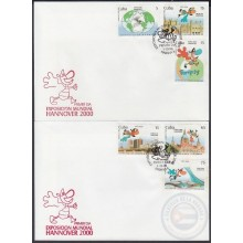 1999-FDC-56 CUBA FDC 1999 EXPO MUNDIAL 2000 HANNOVER GERMANY.