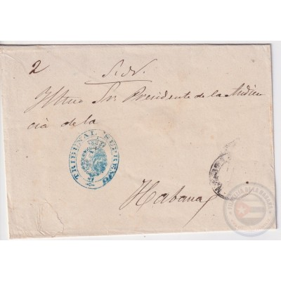 1896-H-12 SPAIN TRIBUNAL SUPREMO OFFICIAL COVER TO HABANA.