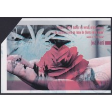 2010-EP-46 CUBA 2010 POSTAL STATIONERY WOMAN FLOWER SPECIAL DELIVERY ERROR DOUBLE PRINTING.