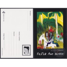 2007-EP-26 CUBA 2007 HORSE ROOSTER POSTAL STATIONERY SPECIAL DELIVERY HAPPY NEW YEAR 1/5 FUSTER. 2.99